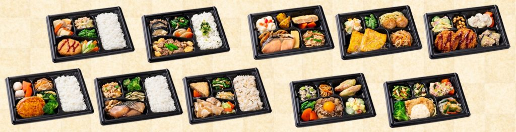 variety of meals