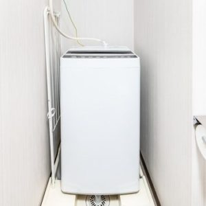 Osaka Hotel washing machine in the room